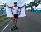 滑輪溜冰男子20公里公路賽  趙祖政勇奪金牌
