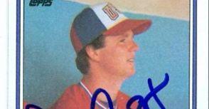 中華職棒單季被擊出最多272支安打的洋將 奧古斯都(Don August)簽名球員卡