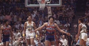 #41 Wes Unseld Washington Bullets 1977/78 Road Blue Authentic Jersey