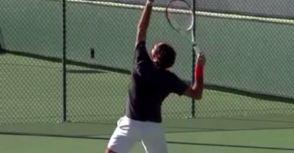 費德勒的發球姿勢分析