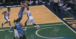 Russell Westbrook熱身賽上陣34分鐘,取下三雙數據21分10籃板10助攻!!