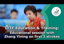 奧運冠軍張怡寧談桌球前三板(ZHANG Yining Highlights the First Three Strokes of Table Tennis)