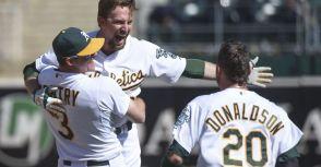 【MLB】Lowrie 再見一擊! 運動家季後賽席次仍保一線生機