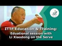 中國國家隊教練李曉東談桌球發球(LI Xiaodong Teaches Table Tennis Serve)