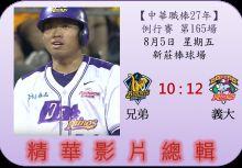【精華影片總輯】中職27年例行賽-第165場(兄弟VS義大)