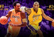 湖人將在新球季為Kobe Bryant同時退役8號及24號球衣!
