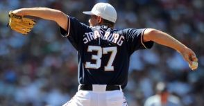 #37 Stephen Strasburg Washington Nationals ALT. Navy AU Jersey