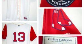 波士頓紅襪隊接任終結者的(田澤純一)2011年高階1A賽倫紅襪隊實戰球衣