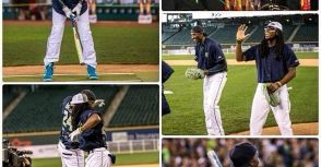 運動名人壘球賽  Kobe 左打開轟!