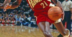 #21 Dominique Wilkins 1993/94 Atlanta Hawks Alternate Black AU Jersey