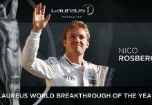 【F1】世界冠軍Nico Rosberg獲頒勞倫斯年度優秀成長運動員獎