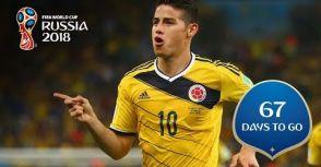 【世界盃足球賽倒數 67 天】James Rodriguez 的 67 分鐘進球!