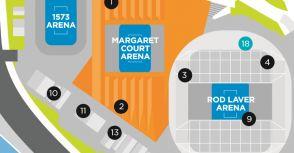澳洲網球公開賽的第「1573 場館」