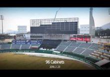 世界最大的棒球場大螢幕是這樣搭出來的!