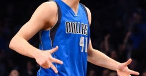 Dirk Nowitzki成為史上得分排行榜第7名