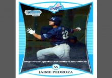 中信兄弟 佩卓Jamie Pedroza 2008 Bowman Chrome Prospects球員卡