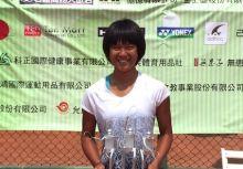 南瀛盃國際青少年網球賽 卓宜萱為地主留雙冠