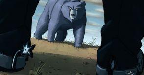 傷痕累累的灰熊帶着尊嚴和驕傲離去