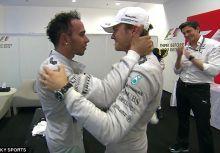 恭賀Hamilton奪冠,Rosberg展現運動家精神
