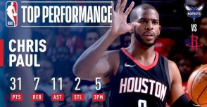 12 勝 0 敗,Chris Paul 火箭生涯尚未輸過!