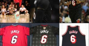 #6 LeBron James 2013/14 Heat Game/Team Issued Jerseys - Special Type