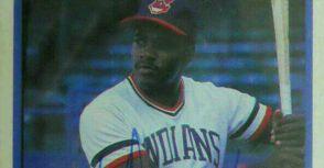 中華職棒首位完全打擊紀錄締造者艾勃美國職棒時期的親筆簽名球員卡