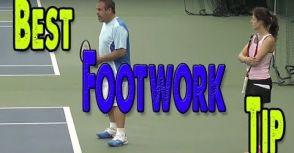 網球場上的腳步律動感