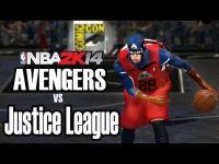 兩大超級英雄聯盟  籃球場上對尬!