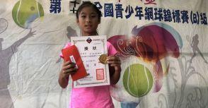 輝安盃B公開級》輝安盃青少年網賽  10歲組陳泓叡  12歲組 朱秝亞抱走雙料冠軍