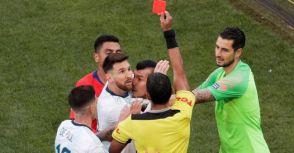 2019美洲盃季軍戰-阿根廷2-1智利-梅西竟吃紅牌退場