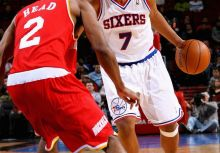 #7 Andre Miller 2007/08 76ers Hardwood Classics Night Game Worn Jersey