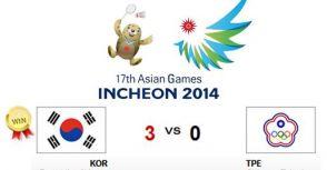 中華羽球男團不敵韓國,並列銅牌!