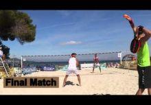有趣的沙灘網球