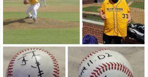 中華職棒投手林晨樺投出在澳洲職棒生涯的第一球