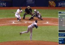 誇張的橫向位移!Chapman如何用這顆滑球虐殺左打者?