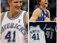 #41 Dirk Nowitzki MAVS Game/Team Issued & (HWC) Authentic Jerseys